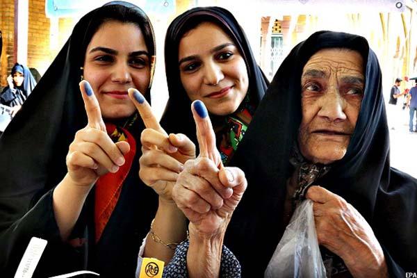 تصویری پس از رای دهی انتخابات مجلس