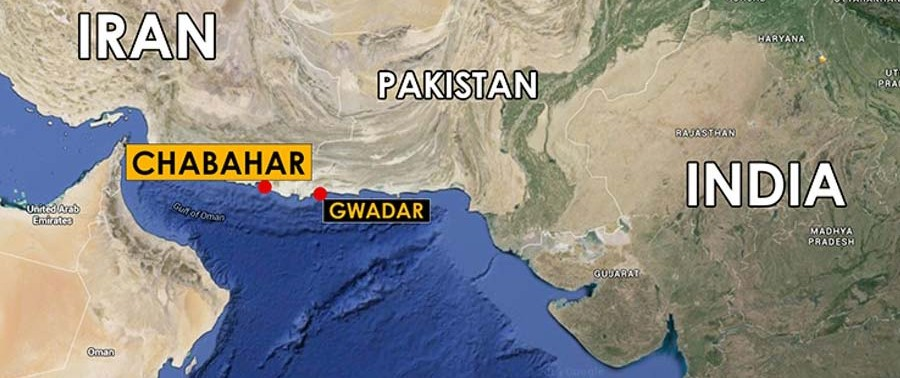 map of chabahar and gawadar ports