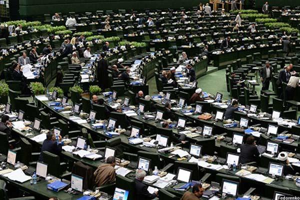 نمای درونی از مجلس ایران