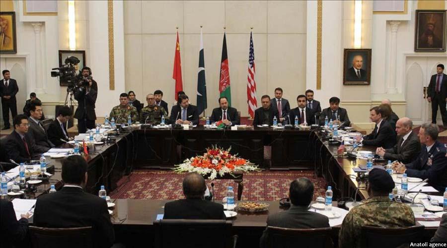 جریان گفتگوهای چهارجانبه صلح در کابل