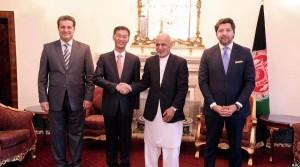 دیدار سفیر جدید چین با رییس جمهور غنی در ارگ ریاست جمهوری