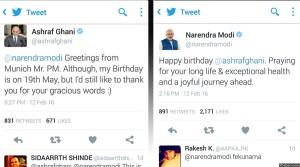 تبریکی تولد رییسجمهور غنی از سوی نارندرامودی و پاسخ آقای غنی