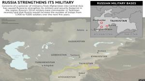 نمایی از پایگاههای نظامی روسیه در تاجکستان