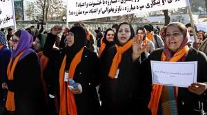 اعتراض زنان افغان در پیوند به بیکاری و افزایش اعتیاد