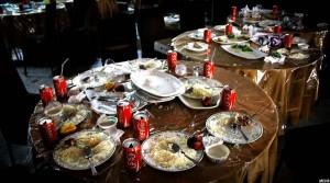 باقی مانده غذاها در یکی از رستورانت های کابل