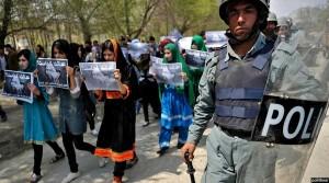 اعتراض بانوان افغان در پیوند به بی عدالتی با زنان