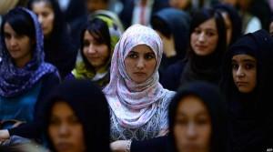 تصویر از تجمع زنان افغان