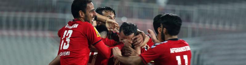 پیروزی چشمگیر تیم فوتبال افغانستان در مقابل سنگاپور