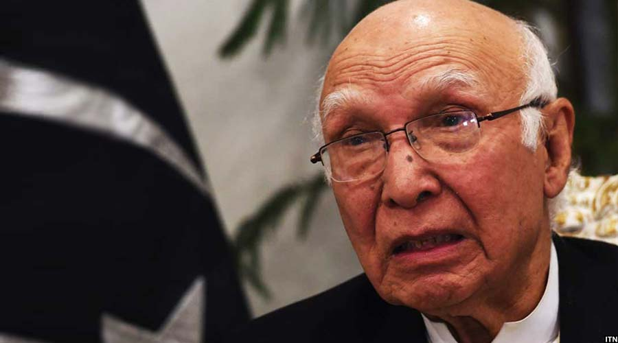 سرتاج عزیز مشاور روابط خارجی نخست وزیر پاکستان