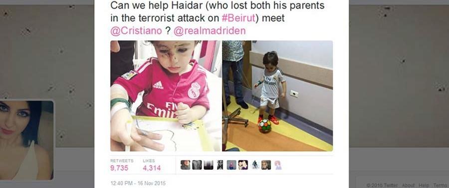twit of Rana Haidar