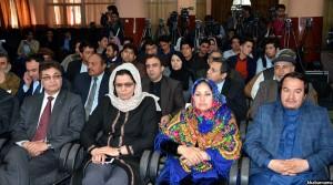 شماری از مقامات حکومتی و وکلای پارلمان افغانستان در نشست اعلام نتایج کانکور