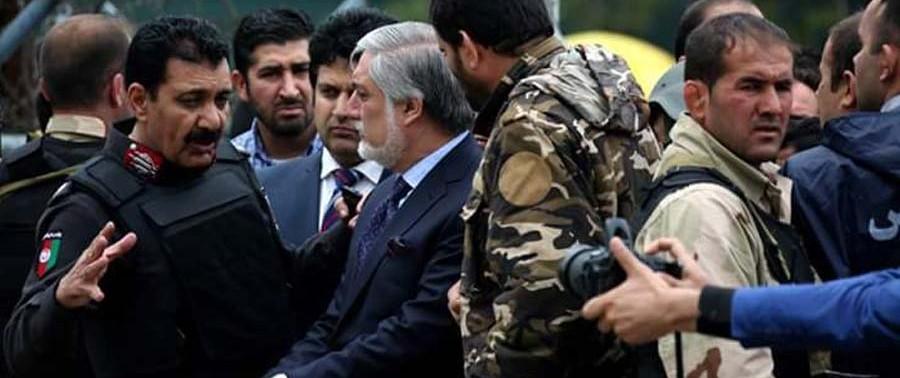 Dr. Abdullah in Kabul Blast