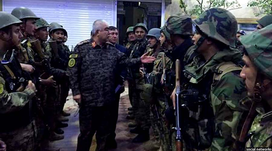 سفر جنرال دوستم برای رهبری جنگ در شمال
