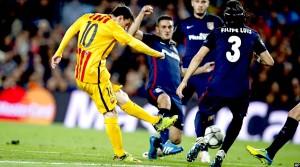 لیونل مسی در بازی دیشب مقابل اتلتیکو
