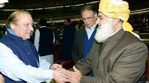 مولانا فضل الرحمن در دیدار با نواز شریف، نخست وزیر پاکستان