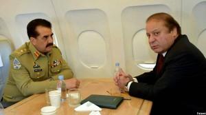 نخست وزیر و رییس ستاد ارتش پاکستان
