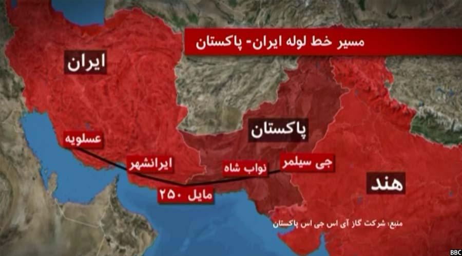 نقشه خط لوله صلح