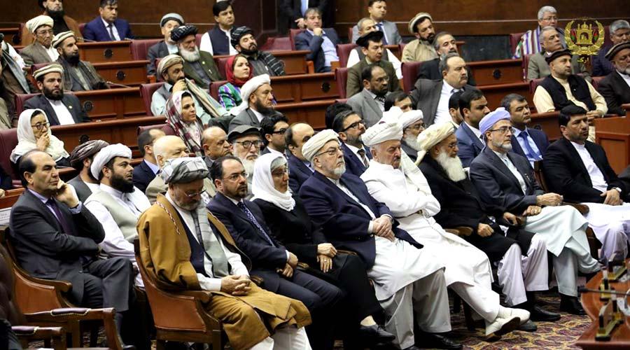حضور مقامات ارشد سیاسی در مجلس نمایندگان افغانستان