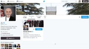 تویتر اختصاصی ارگ ریاست جمهوری افغانستان
