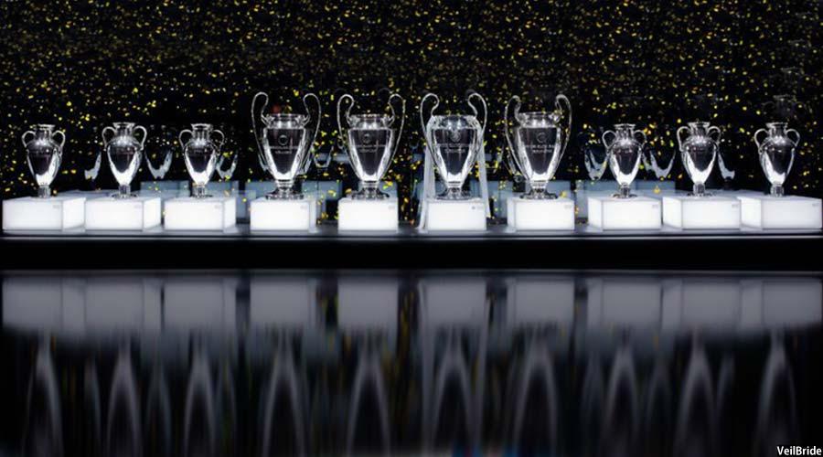 ده جام لیگ قهرمانان اروپا در موزیم باشگاه ریال مادرید