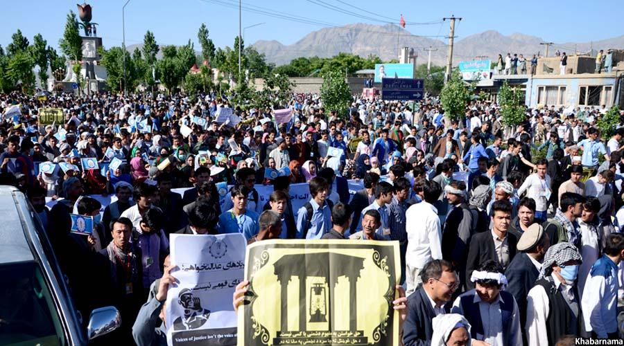 تظاهرات امروز کابل بدون خشونت به پایان رسید