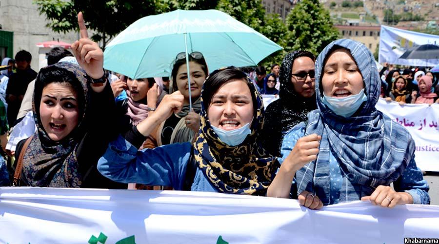 حضور چشمگیر بانوان در تظاهرات امروز