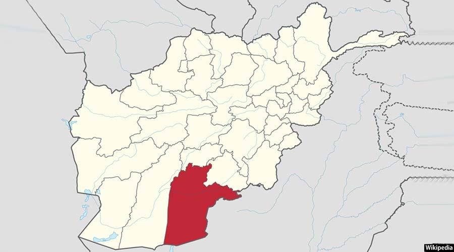 ولایت جنوبی قندهار افغانستان روی نقشه