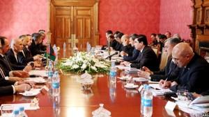 جلسهای دوجانبهی راه لاجورد میان افغانستان و ترکمنستان