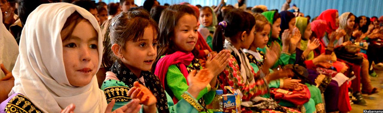 روز کودک در کابل؛ فرهاد دریا برای کودکان شادمانی آفرید