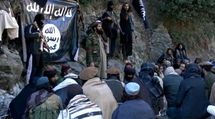 تصویری منتشرشده از داعش در ولایت ننگرهار افغانستان