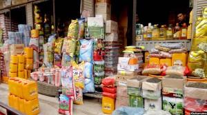 یکی از فروشگاه های مواد غذایی در غرب کابل