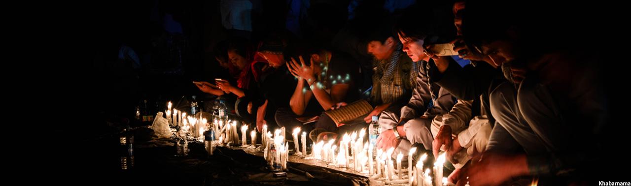 شامگاه شهدای روشنایی؛ شمع های افروخته به یاد معترضان از جهان رفته