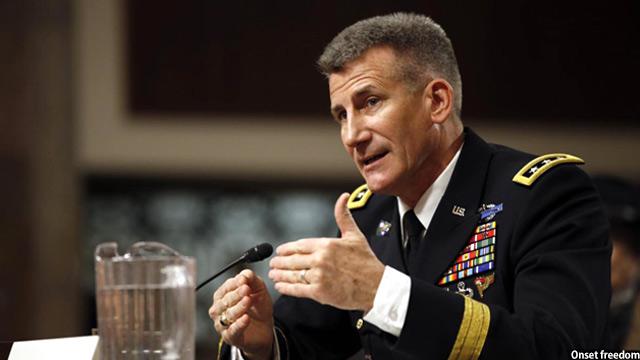 جنرال جان نیکلسون فرمانده نیروهای حمایت قاطع در افغانستان