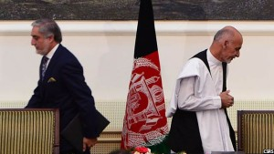 جریان امضای توافقنامه سیاسی میان رییس جمهور و رییس اجرایی افغانستان