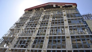 building damaged in Kabul explosion
