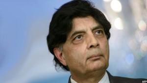 چودری نثارعلی وزیر امور خارجه پاکستان
