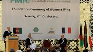 جریان افتتاح شفاخانه فرانسه برای اطفال در افغانستان