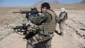 سربازان فرانسوی حین آموزش سربازان افغان