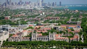 نمایی از دانشگاه شیکاگو