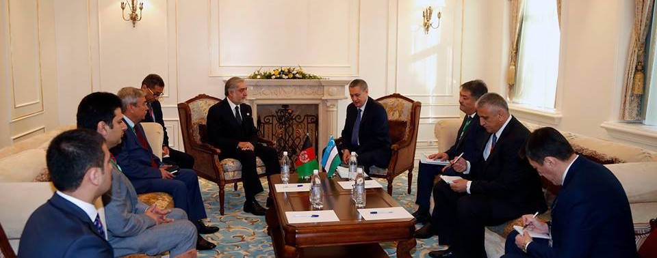 afghanista-in-shanghai-summit with Uzbekistan