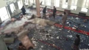 نمایی از قربانیان انفجاری در مراسم شیعیان در کابل
