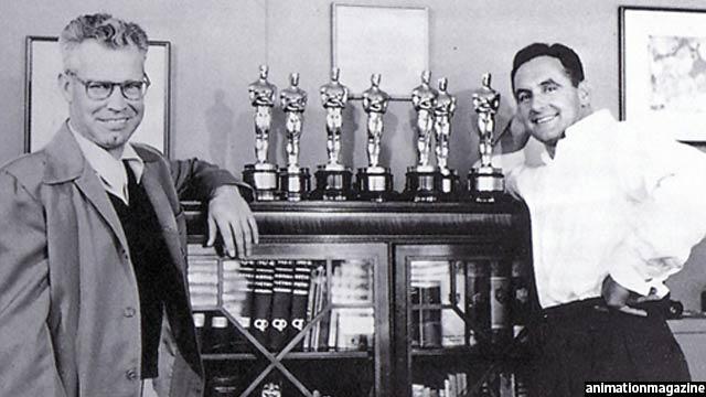 هانا و باربرا، خالقان تام و جیری همراه با هفت جایزهی اسکار این انیمیشن
