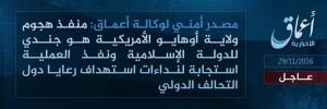 داعش مسولیت این حمله را به عهده گرفته است