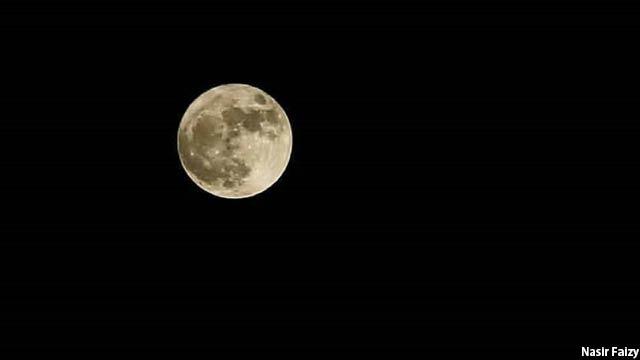 تصویر دیگری از ماه شب گذشته که توسط عکاس خبرنگار افغان ثبت شده است