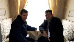 شاکر کارگر همراه با وزیر خارجه ترکمنستان، در نخستین قطار ترکمنستان-افغانستان وارد شمال افغانستان شدند