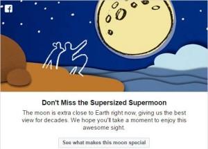 فیس یک روز تمام از کاربران خود خواست تا این منظره را از دست ندهند