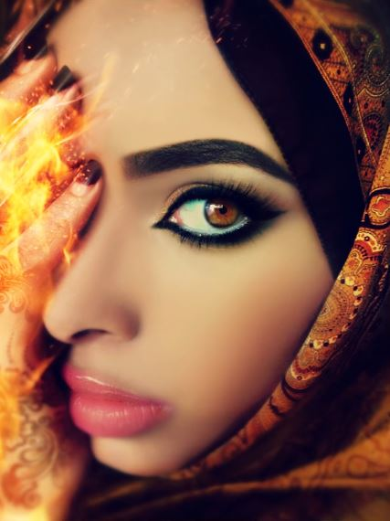 پرترهای از این رقاصهی عرب. / عکاس: پاتریسیا