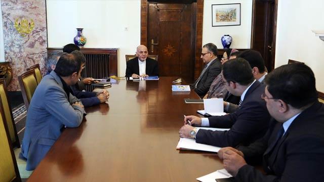 اعضای کمیته گزینش در دیدار با رییس جمهور غنی