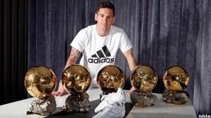 مسی تا کنون پنج توپ طلای جهان را بدست آورده است و از این نظر بی رقیب است