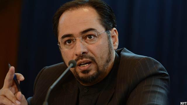 صلاح الدین ربانی وزیر امور خارجه که از جانب مجلس سه روز قبل سلب صلاحیت شد